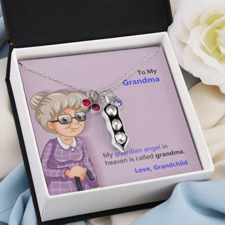birthstone necklace for grandma