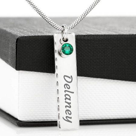 grandchildren birthstone necklace