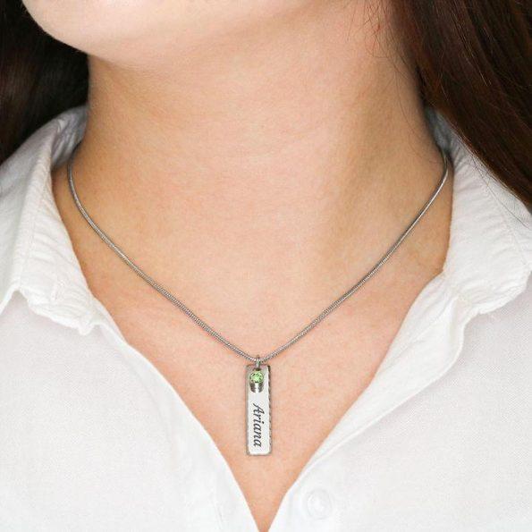 grandchildren necklace with birthstones